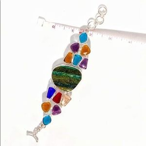 Jewelry - 🌈Large Natural stone and crystal bracelet🌈